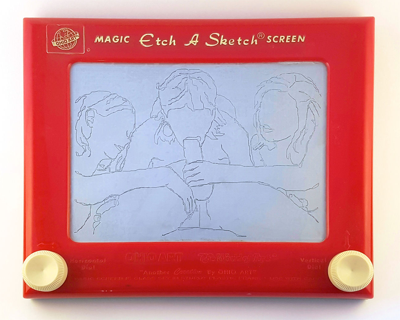 Dessins suggestifs sur un écran magique